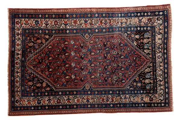 3.5x5.5 Vintage Persian Malayer Rug - Old New House