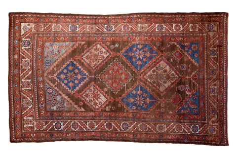 4x7 Vintage Persian Malayer Rug // ONH Item ee002524