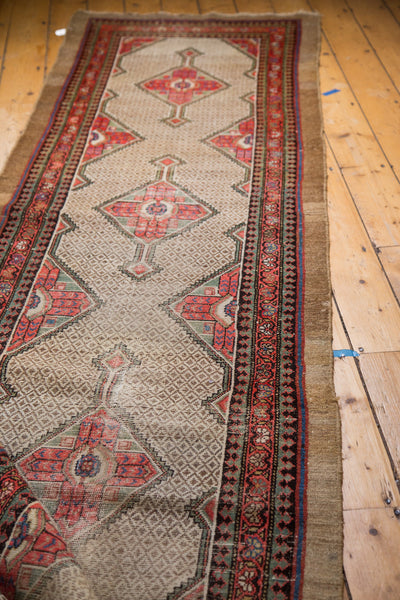 3x18 Distressed Persian Camel Hair Hamadan Rug Runner - Old New House