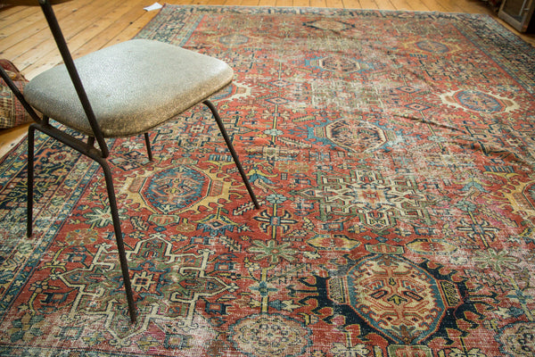 Distressed Vintage Karaja Carpet