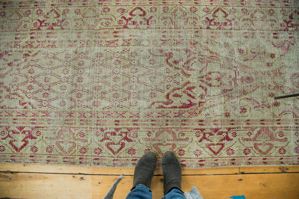 Distressed Vintage Oushak Rug Runner