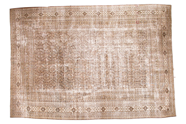 Distressed Vintage Khorassan Carpet