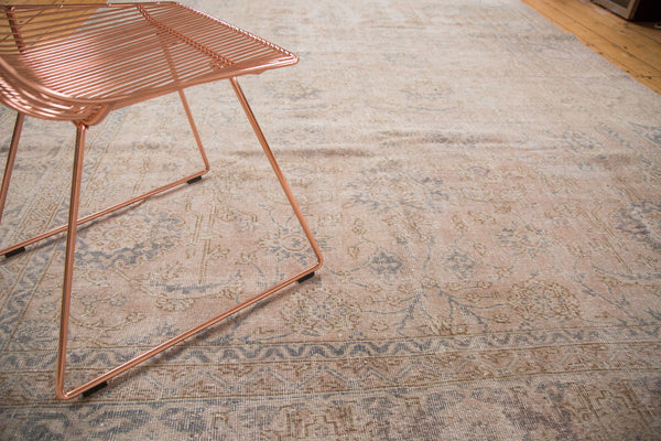 Distressed Vintage Oushak Carpet