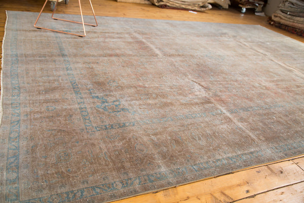 Distressed Vintage Kashan Carpet