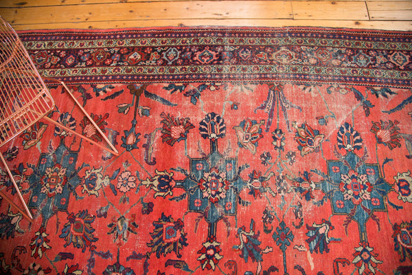 Distressed Vintage Mahal Carpet