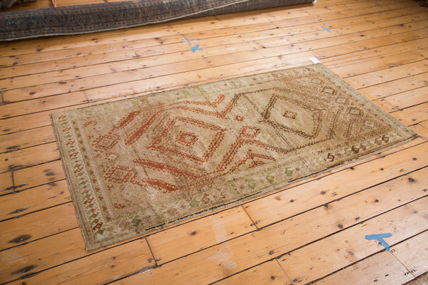 Distressed Vintage Afghani Rug Runner / Item ee002644 image 2