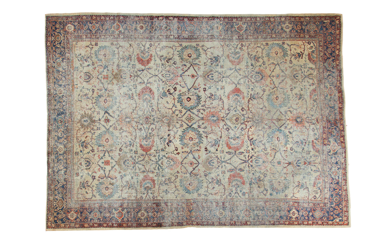 8.5x12 Distressed Antique Mahal Carpet // ONH Item ee002703