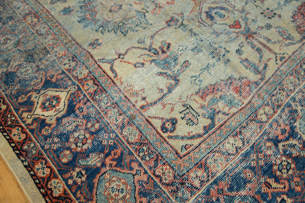 Distressed Antique Mahal Carpet / Item ee002703 image 6