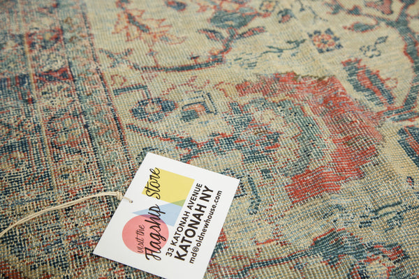 Distressed Antique Mahal Carpet / Item ee002703 image 7