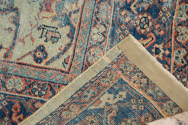 Distressed Antique Mahal Carpet / Item ee002703 image 9