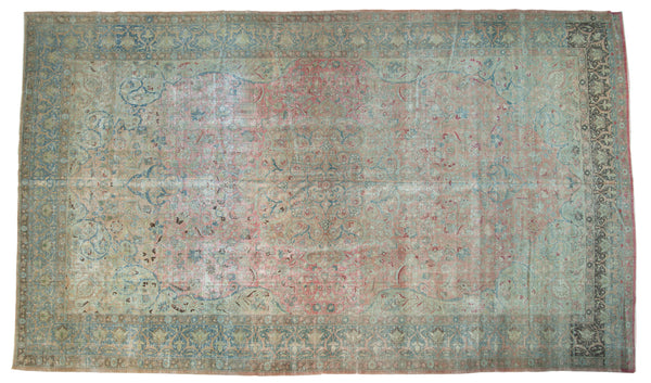 Vintage Distressed Tabriz Carpet