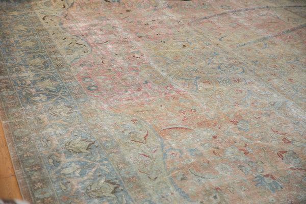 Vintage Distressed Tabriz Carpet / Item ee002713 image 4