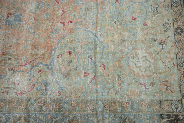 Vintage Distressed Tabriz Carpet / Item ee002713 image 5