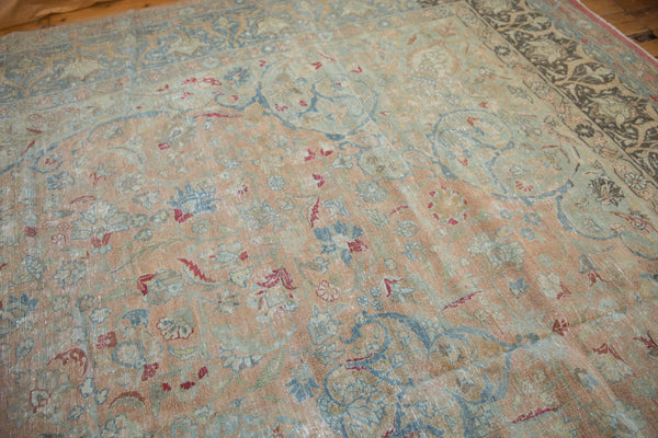 Vintage Distressed Tabriz Carpet / Item ee002713 image 6