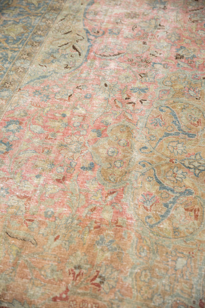 Vintage Distressed Tabriz Carpet / Item ee002713 image 7