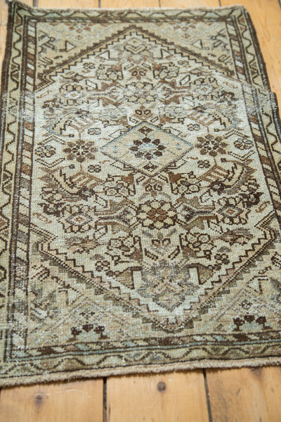 Distressed Antique Malayer Rug Runner