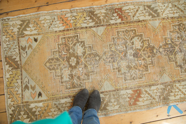 Vintage Turkish Oushak Rug Runner