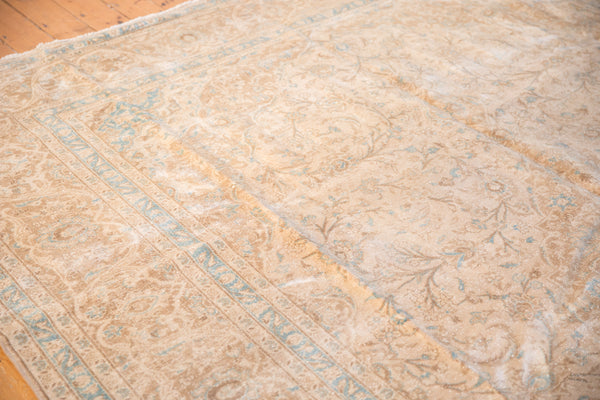 Vintage Distressed Kashan Carpet