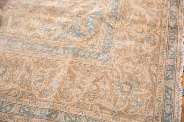 9.5x13 Vintage Distressed Kashan Carpet - Old New House