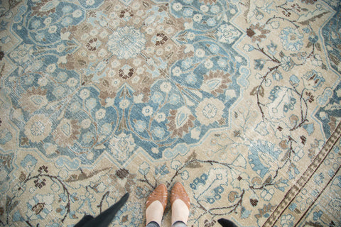 Vintage Distressed Tabriz Khoy Carpet