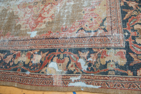 Distressed Antique Mahal Carpet