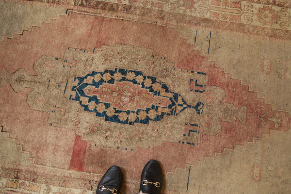 Vintage Distressed Oushak Rug Runner / Item ee002839 image 2