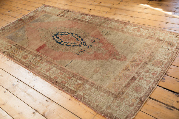 Vintage Distressed Oushak Rug Runner / Item ee002839 image 3