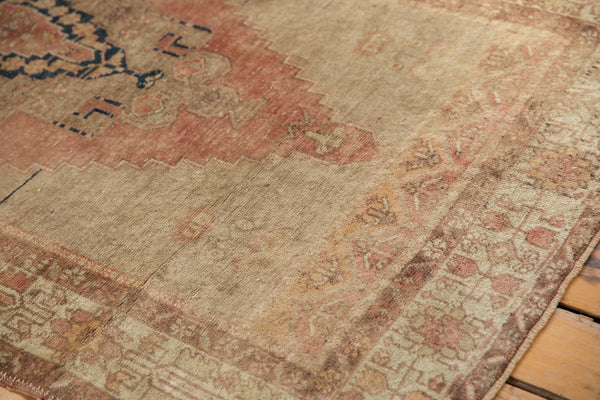 Vintage Distressed Oushak Rug Runner / Item ee002839 image 4