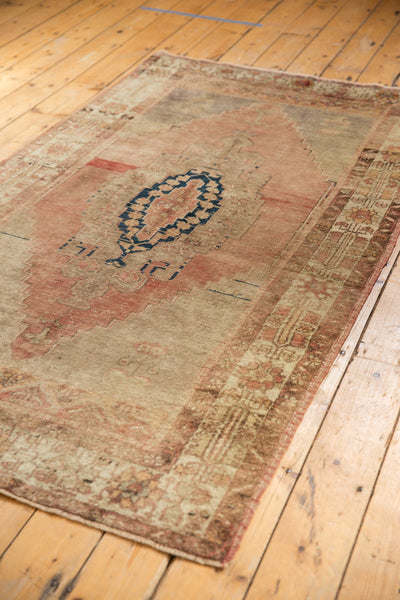Vintage Distressed Oushak Rug Runner / Item ee002839 image 5