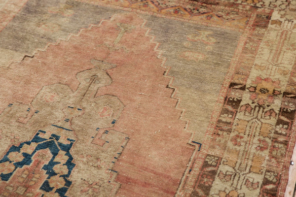 Vintage Distressed Oushak Rug Runner / Item ee002839 image 6