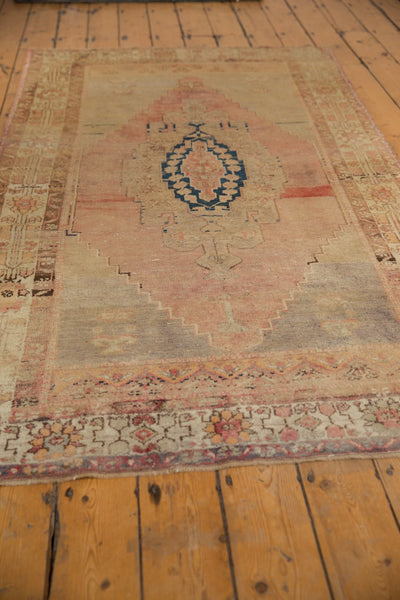 Vintage Distressed Oushak Rug Runner / Item ee002839 image 9
