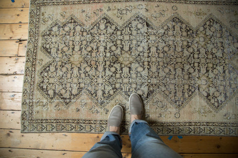 Antique Distressed Malayer Rug