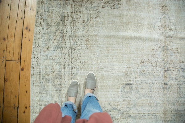 Vintage Distressed Oushak Carpet / Item ee002846 image 3