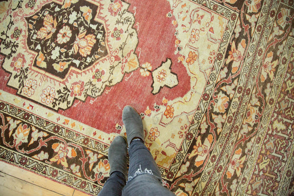 Vintage Distressed Oushak Carpet / Item ee002884 image 2