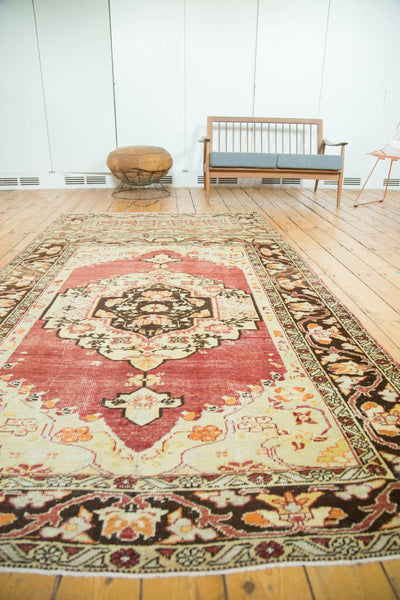 Vintage Distressed Oushak Carpet / Item ee002884 image 4