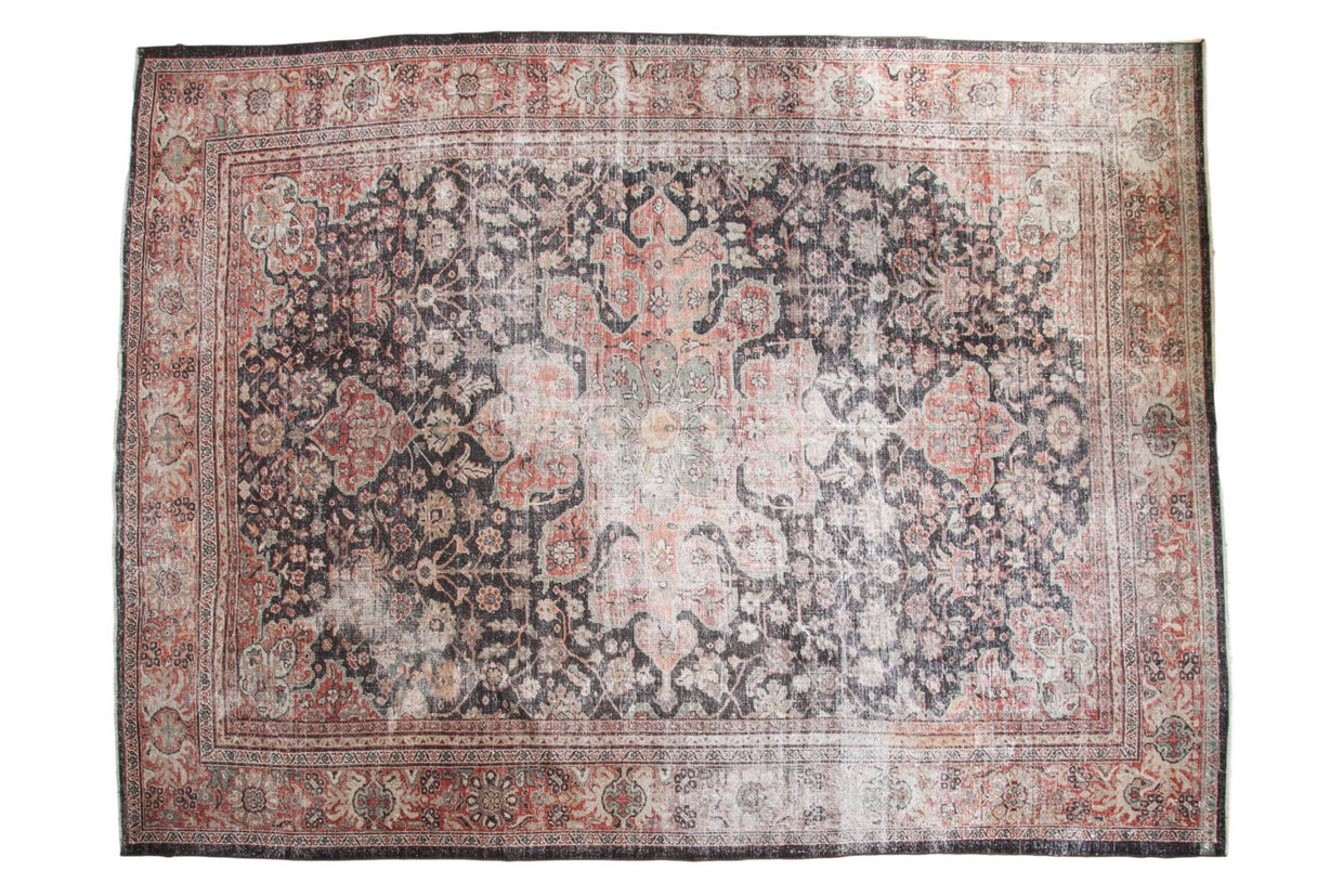 10x13.5 Vintage Distressed Mahal Carpet // ONH Item ee002899