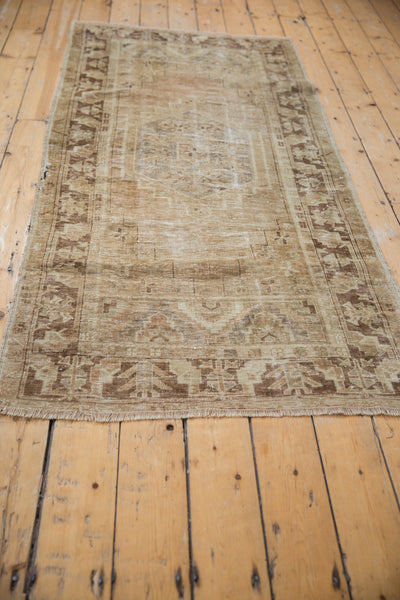 Vintage Distressed Oushak Rug Runner / Item ee002904 image 3