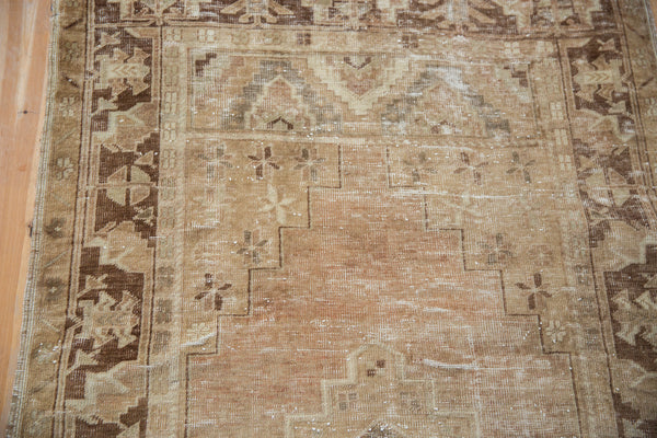 Vintage Distressed Oushak Rug Runner / Item ee002904 image 5