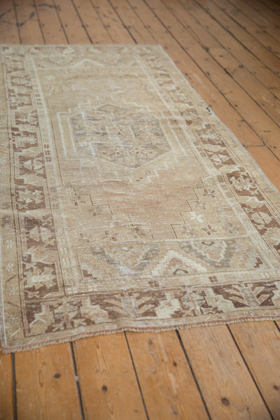 Vintage Distressed Oushak Rug Runner / Item ee002904 image 6