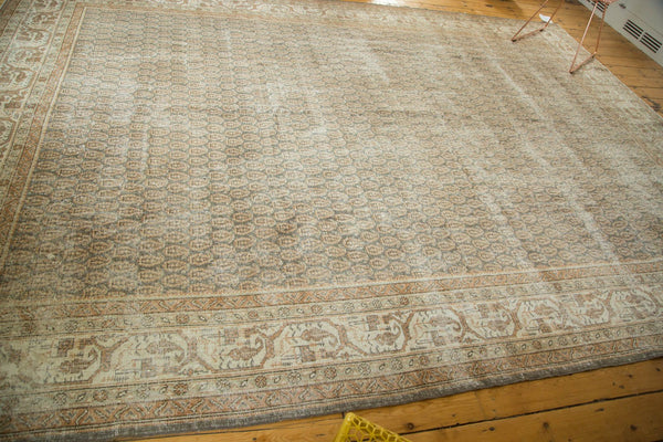Vintage Distressed Oushak Carpet