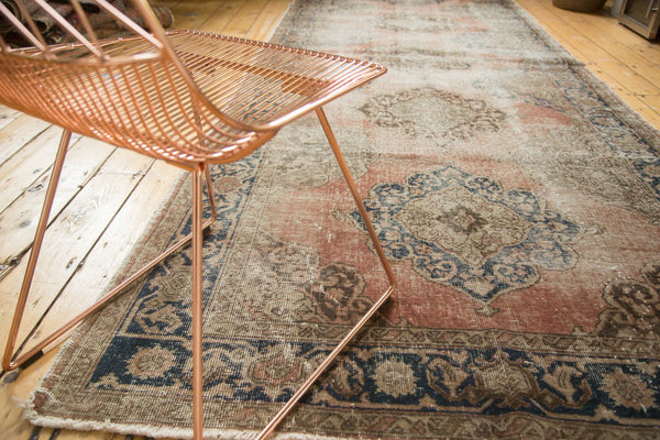 Vintage Distressed Oushak Rug Runner / Item ee002945 image 4