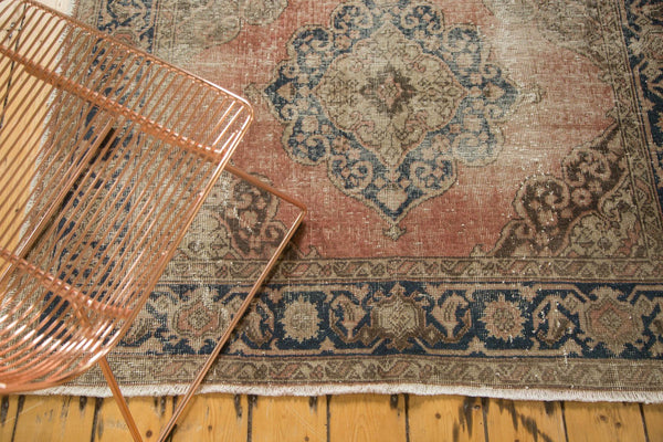 Vintage Distressed Oushak Rug Runner / Item ee002945 image 5
