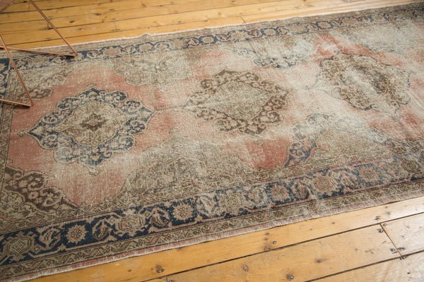 Vintage Distressed Oushak Rug Runner / Item ee002945 image 6