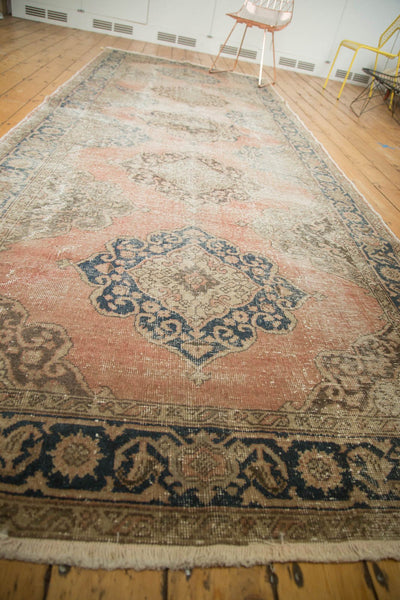 Vintage Distressed Oushak Rug Runner / Item ee002945 image 7