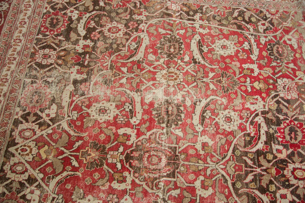 Vintage Distressed Tabriz Carpet / Item ee002972 image 8
