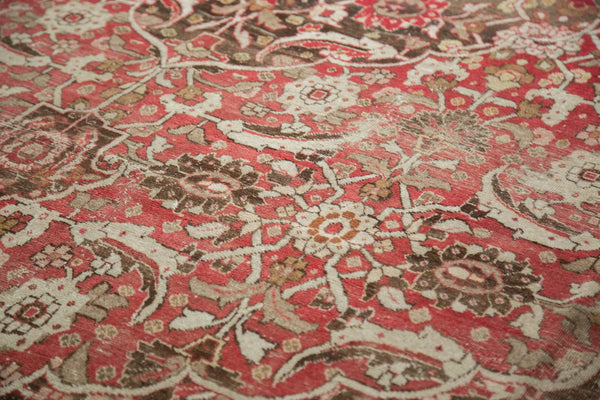 Vintage Distressed Tabriz Carpet / Item ee002972 image 10