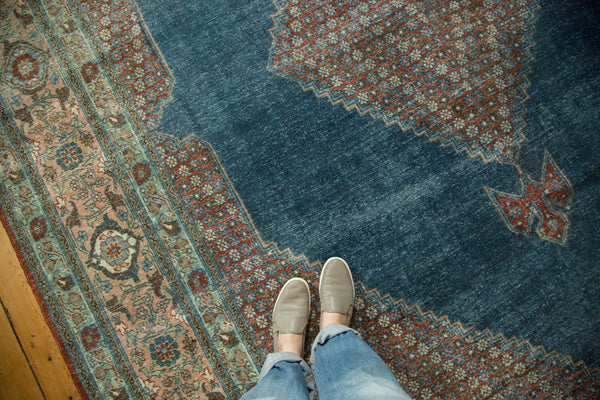 Vintage Distressed Mahal Carpet