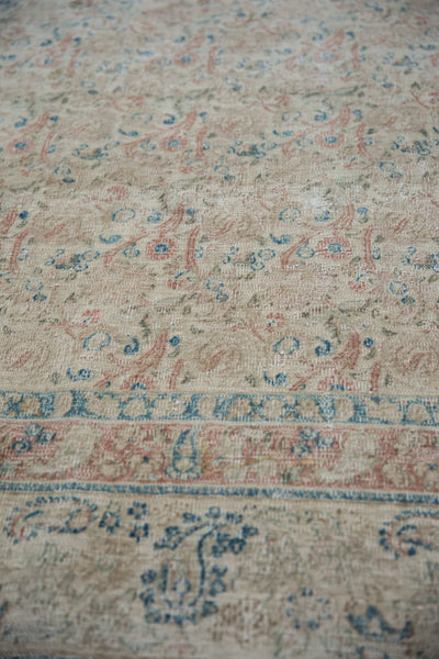Vintage Distressed Meshed Carpet / Item ee002996 image 8