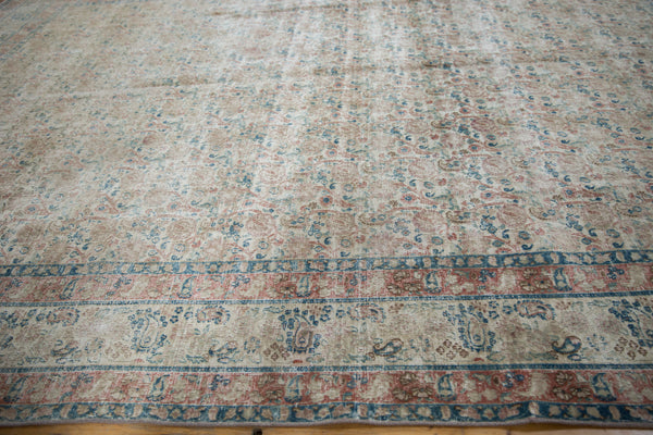 Vintage Distressed Meshed Carpet / Item ee002996 image 9