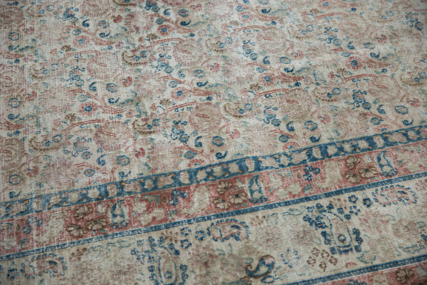 Vintage Distressed Meshed Carpet / Item ee002996 image 10